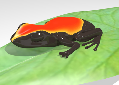 grenouille 3D blender