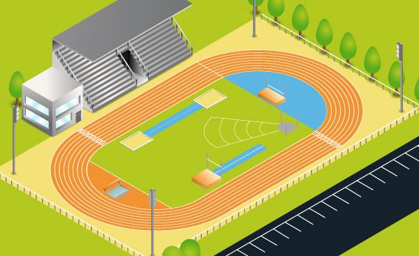 piste athlétisme illuustrator